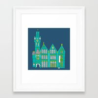 architecture Framed Art Prints featuring Architecture by bluebutton studio