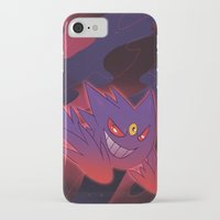 gengar iPhone & iPod Cases featuring Mega Gengar by Vaahlkult