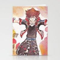 kingdom hearts Stationery Cards featuring KINGDOM HEARTS 3 Sora by DarkGrey Heroine
