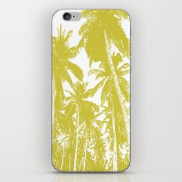 Palm Trees Design in Gold and White iPhone Skin