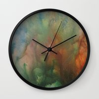 angels Wall Clocks featuring Angels by Benito Sarnelli