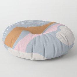 Modern Wobble Rainbow Zen Line  Floor Pillow