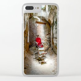 At the Barbershop Clear iPhone Case