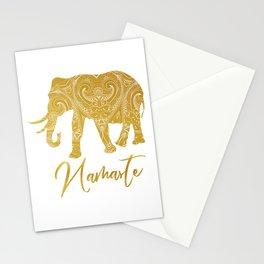 Namaste Golden Elephant Stationery Cards