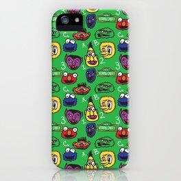 Sesame Street Pattern iPhone Case