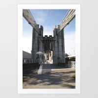 Ghost bridge Art Print
