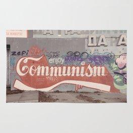 Enjoy communism grafiti Rug
