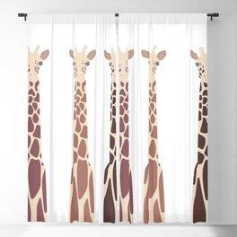 Triple Giraffes Blackout Curtain
