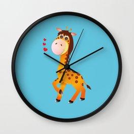 Little One Giraffe Wall Clock