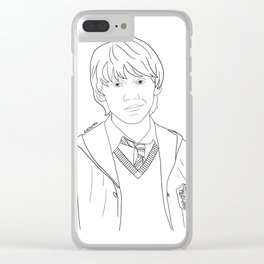 Ron Weasley Clear iPhone Case