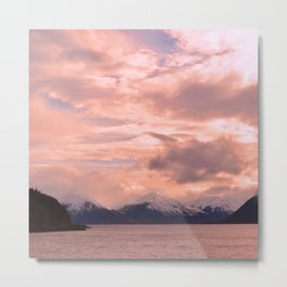 Rose Quartz Over Hope Valley Metal Print