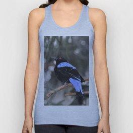 Blue and Black Bird Unisex Tank Top