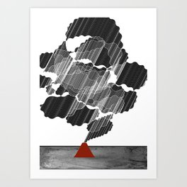 Little Red Volcano Art Print
