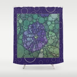 Percolated Purple Potato Flower Reboot  Shower Curtain