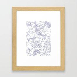Japanese Tattoo Framed Art Print