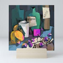 Purple square and rum Mini Art Print