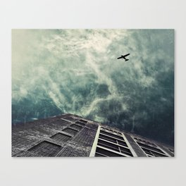 Boston [Sky cut 414] Massachussets, Usa Canvas Print