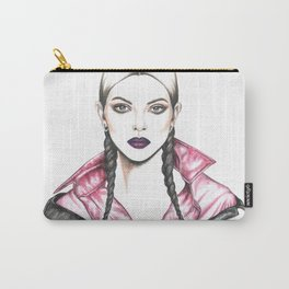 Watercolour Kendall Fashion Illustration Carry-All Pouch
