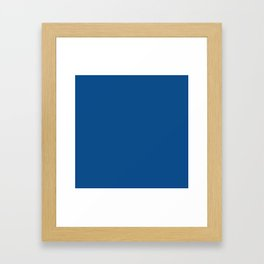 Spring 2017 Designer Colors Lapis Blue Framed Art Print