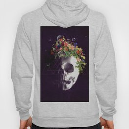 Skull with flowers no1 Hoody