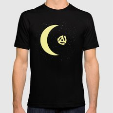 Revolution in Space Black MEDIUM Mens Fitted Tee