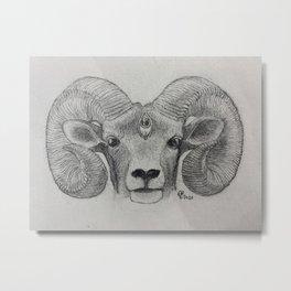 The Lucid Ram Metal Print