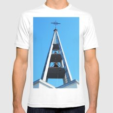 Bell tower church Belfry  MEDIUM White Mens Fitted Tee