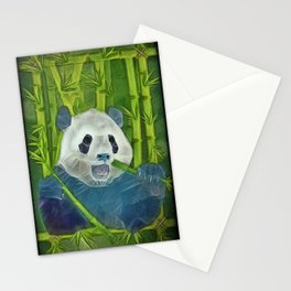 abstract panda Stationery Cards