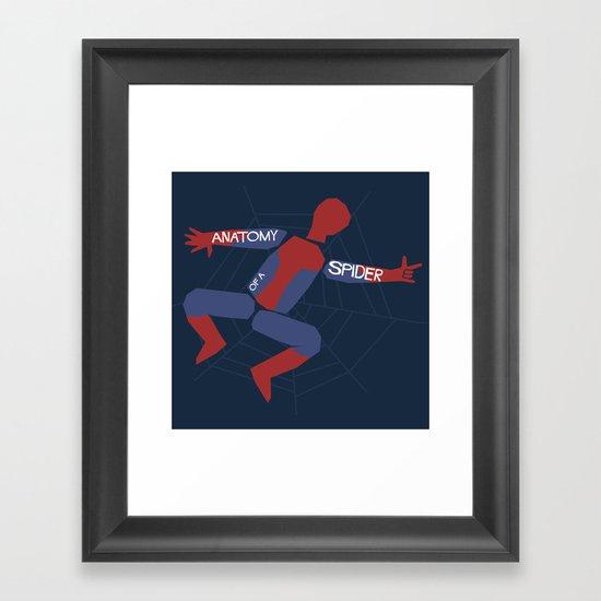 Anatomy of a Spider Framed Art Print