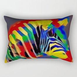 Abstract Rainbow Zebra Rectangular Pillow