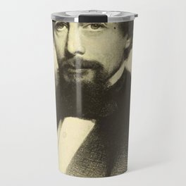 Vintage Charles Dickens Portrait Travel Mug