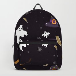Spooky Ghosts and Witches Halloween Pattern Backpack