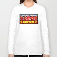 manchester Long Sleeve T-shirts featuring Manchester Football Club by Sport_Designs