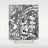 boxing Shower Curtains featuring Boxing by JessicArt