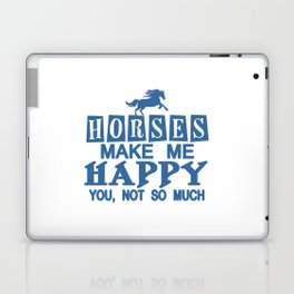 Horses Make Me Happy Laptop & iPad Skin