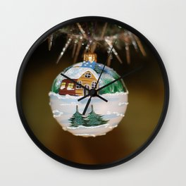 White christmas tree Wall Clock