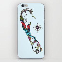 Bermuda Map iPhone Skin