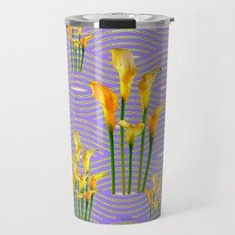 Lime Trellis Lilac Diamonds Calla Lilies Travel Mug