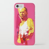 die hard iPhone & iPod Cases featuring Live fast die hard by Robert Farkas