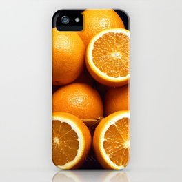 Sweet Oranges Whole and Halved iPhone Case