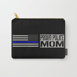 Police: Proud Mom (Thin Blue Line) Carry-All Pouch
