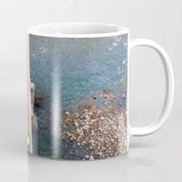 Crossing a bridge Coffee Mug