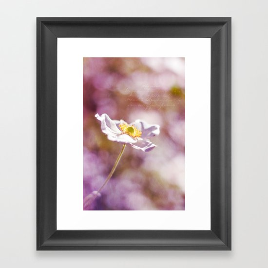 WHITE SOLITAIRE Framed Art Print