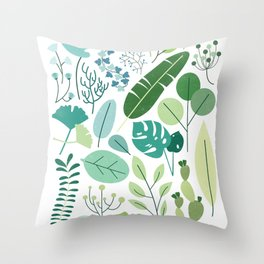 Botanical Chart Throw Pillow