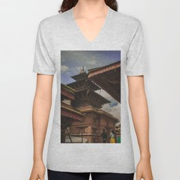 Architecture of Kathmandu City 002 Unisex V-Neck