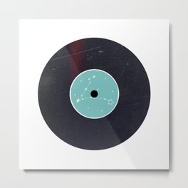 Vinyl Record Star Sign Art | Pisces Metal Print