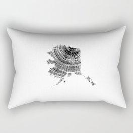 Alaska State, Tree rings, Tree ring print, Tree ring image, Wood Grain Rectangular Pillow