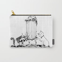 Raccoons and cats Carry-All Pouch