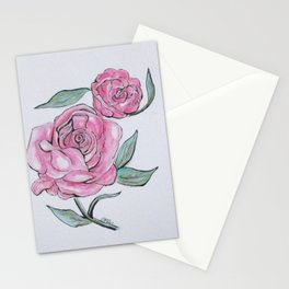 Pretty And Pink Roses Stationery Cards