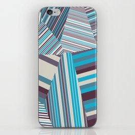 Skycraper Blues - Voronoi Stripes iPhone Skin